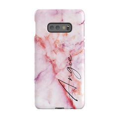Personalised Pastel Marble Name Samsung Galaxy S10e Case