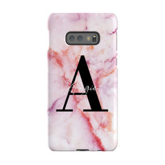 Personalised Pastel Marble Name Initial Samsung Galaxy S10e Case