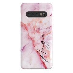 Personalised Pastel Marble Name Samsung Galaxy S10 Case