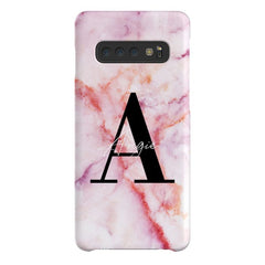 Personalised Pastel Marble Name Initial Samsung Galaxy S10 Case