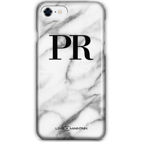 Personalised Pentelic Marble Initials iPhone 8 Case