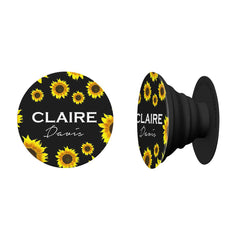 Personalised Sunflower Name Phone Grip