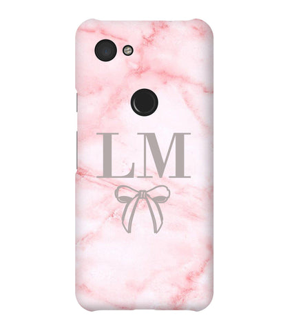 Personalised Cotton Candy Bow Marble Google Pixel 3a Case