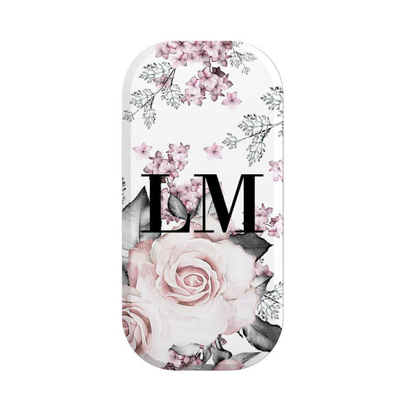 Personalised Pink Floral Rose Initials Clickit
