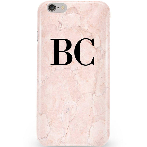Personalised Pink Marble Initials iPhone 6 Plus/6s Plus Case