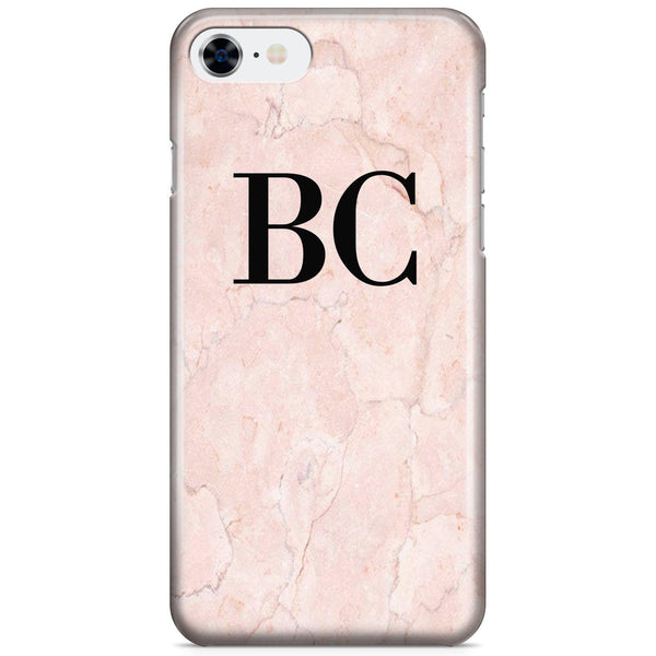 Personalised Pink Marble Initials iPhone 8 Case