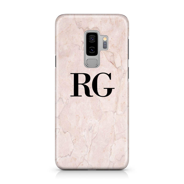 Personalised Pink Marble Initials  Samsung Galaxy S9 Plus Case