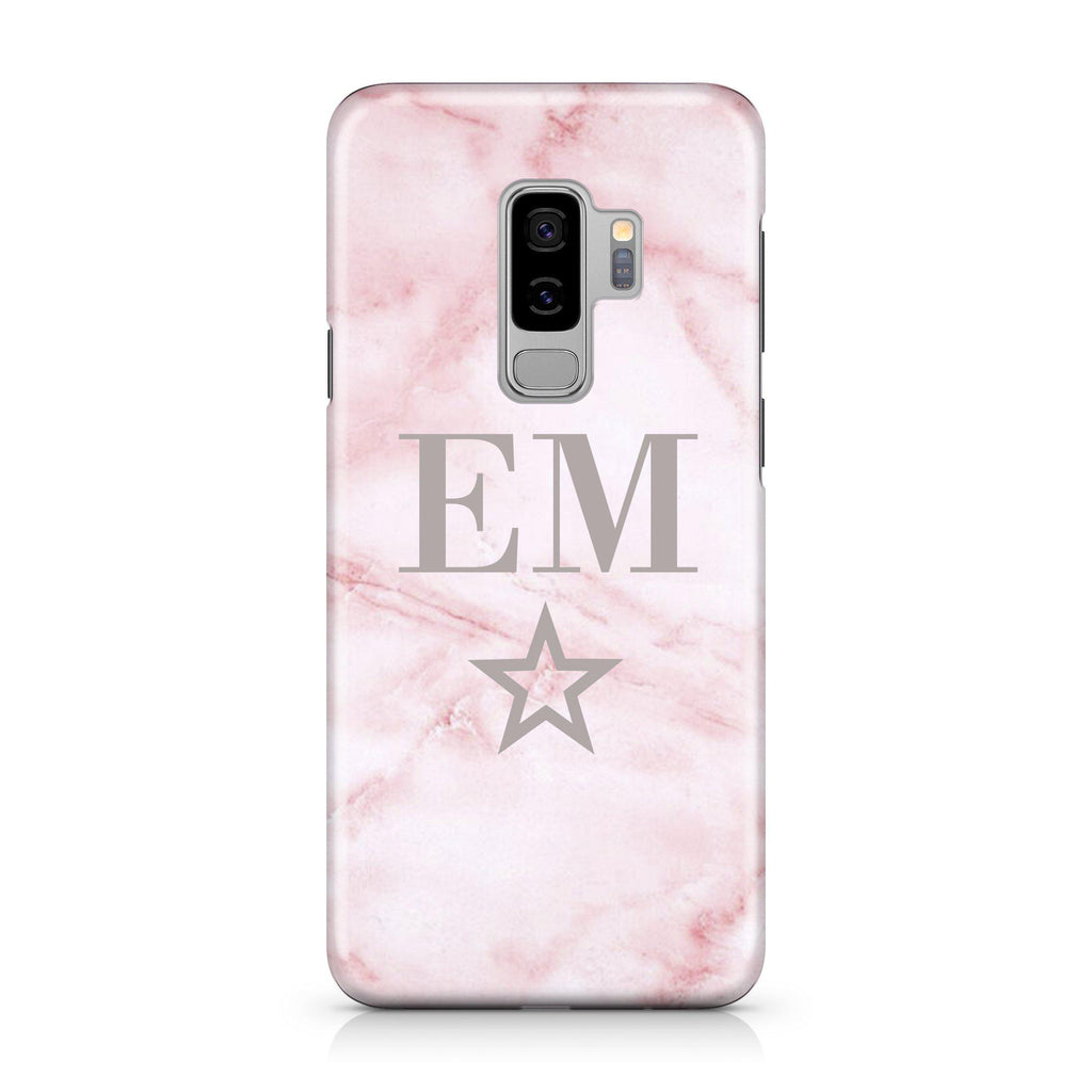 Personalised Cotton Candy Star Marble Initials Samsung Galaxy S9 Plus Case