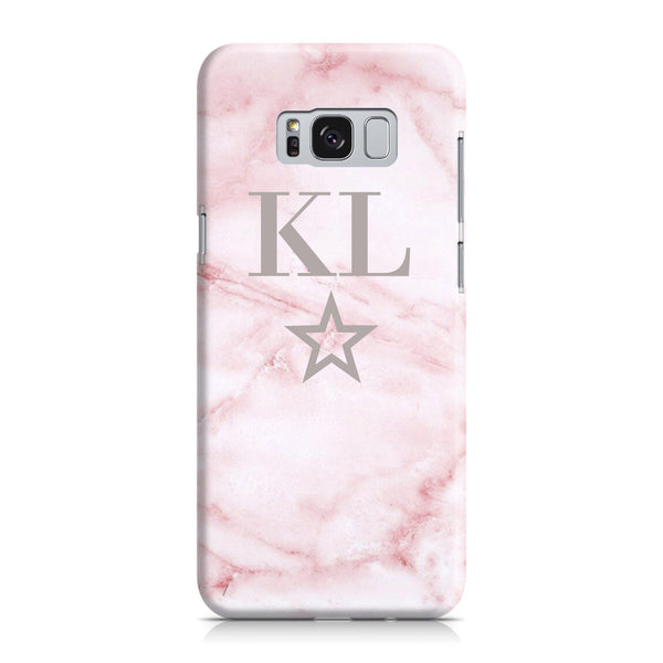 Personalised Cotton Candy Star Marble Initials Samsung Galaxy S8 Case