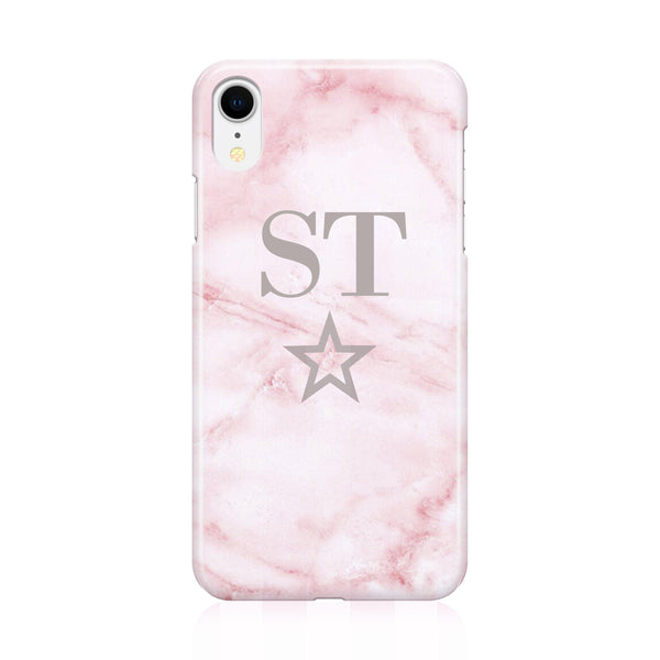 Personalised Cotton Candy Star Marble Initials iPhone XR Case