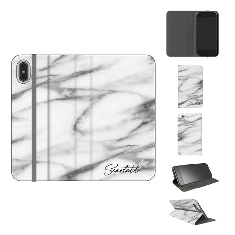 Personalised White Camouflage Initials iPhone XS Case