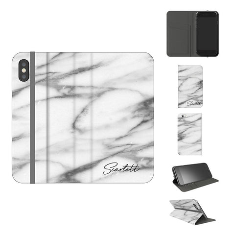 Personalised Pentelic Marble initials iPhone X Case