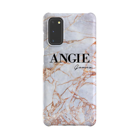 Personalised Fragment Marble Name Samsung Galaxy S20 Case
