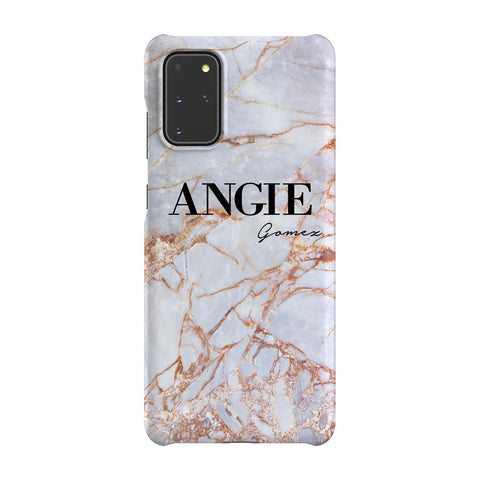 Personalised Fragment Marble Name Samsung Galaxy S20 Plus Case