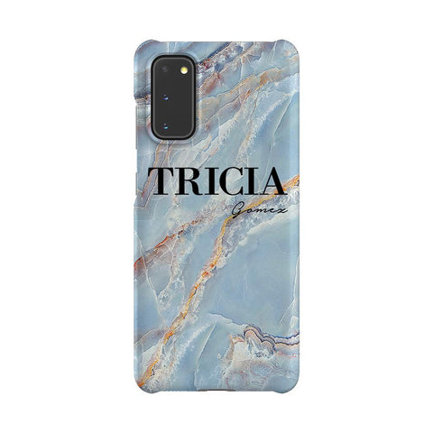 Personalised Ocean Marble Name Samsung Galaxy S20 Case