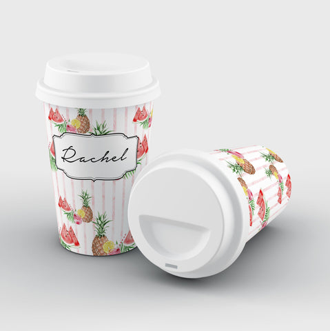 Personalised Watermelon x Pineapple Reusable Coffee Cup