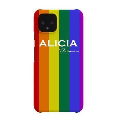 Personalised Pride Google Pixel 4 Case