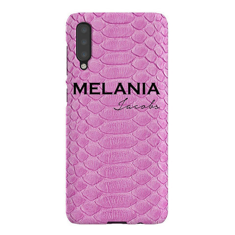 Personalised Pink Snake Skin Name Samsung Galaxy A50 Case