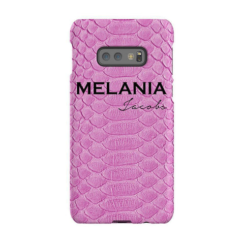 Personalised Pink Snake Skin Name Samsung Galaxy S10E