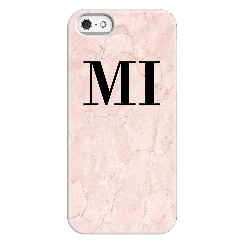 Personalised Pink Marble Initials iPhone 5/5s/SE (2016) Case