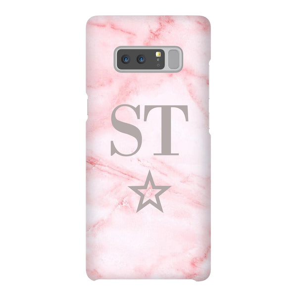 Personalised Cotton Candy Star Marble Initials Samsung Galaxy Note 8 Case