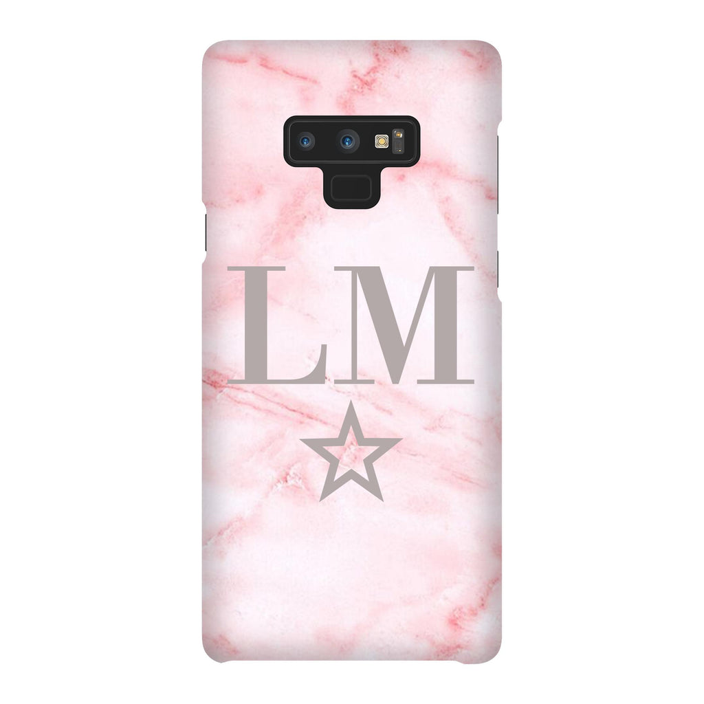 Personalised Cotton Candy Star Marble Initials Samsung Galaxy Note 9 Case