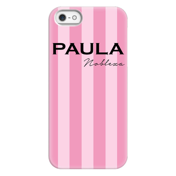 Personalised Pink Stripe iPhone 5/5s/SE (2016) Case