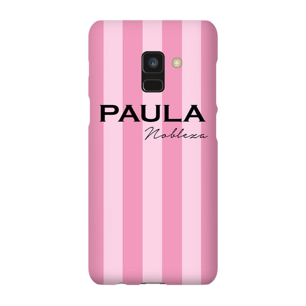 Personalised Pink Stripe Samsung Galaxy A8 Case