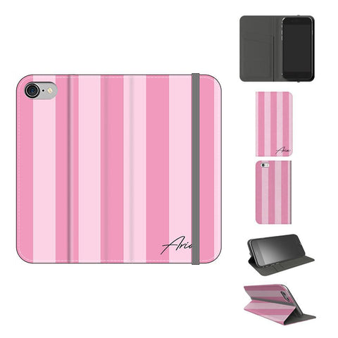 Personalised Pink Stripe iPhone 8 Case