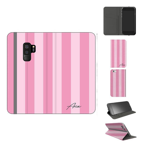Personalised Pink Stripe Samsung Galaxy S9 Plus Case