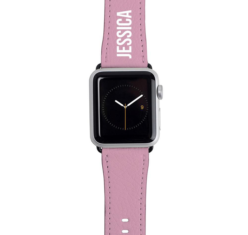 Personalised Pink Apple Watch Strap