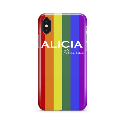 Personalised Pride iPhone XS Case
