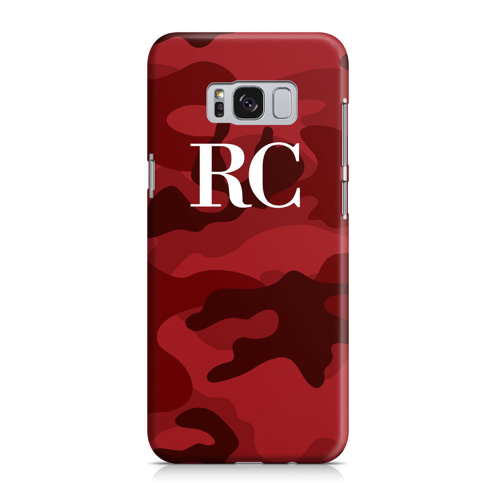 Personalised Red Camouflage Initials Samsung Galaxy S8 Case