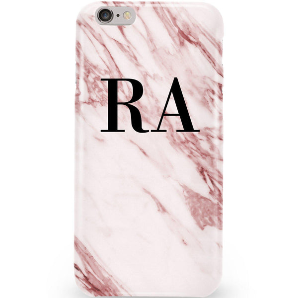 Personalised Rosa Marble Initials iPhone 6/6s Case