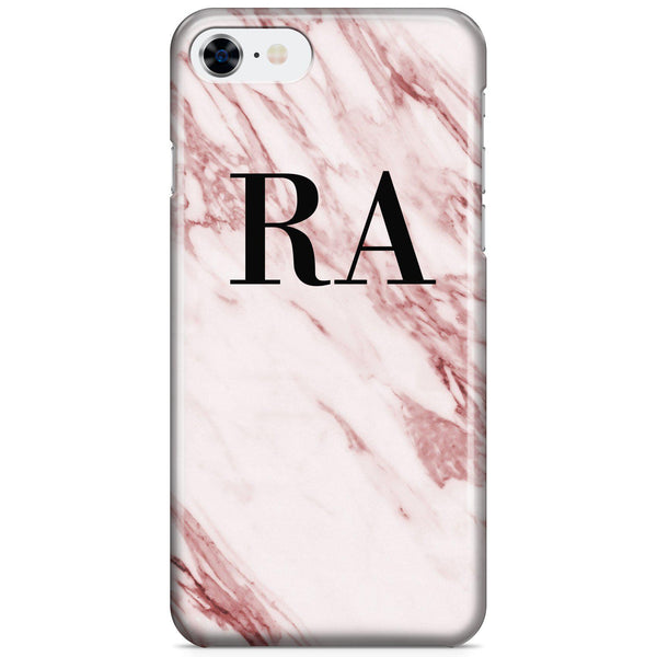 Personalised Rosa Marble Initials iPhone 7 Case
