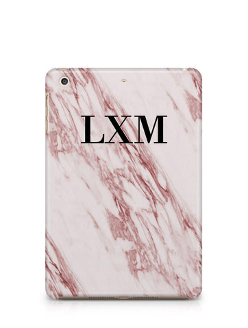 Personalised Rosa Marble Initials iPad Case