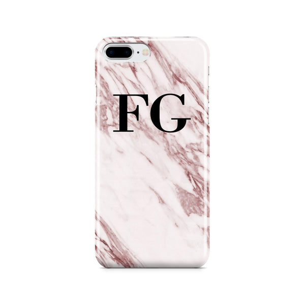 Personalised Rosa Marble Initials iPhone 7 Plus Case