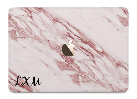Personalised Rosa Marble Initials MacBook Case