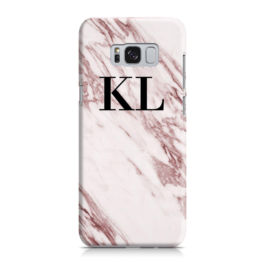 Personalised Rosa Marble Initials Samsung Galaxy S8 Case