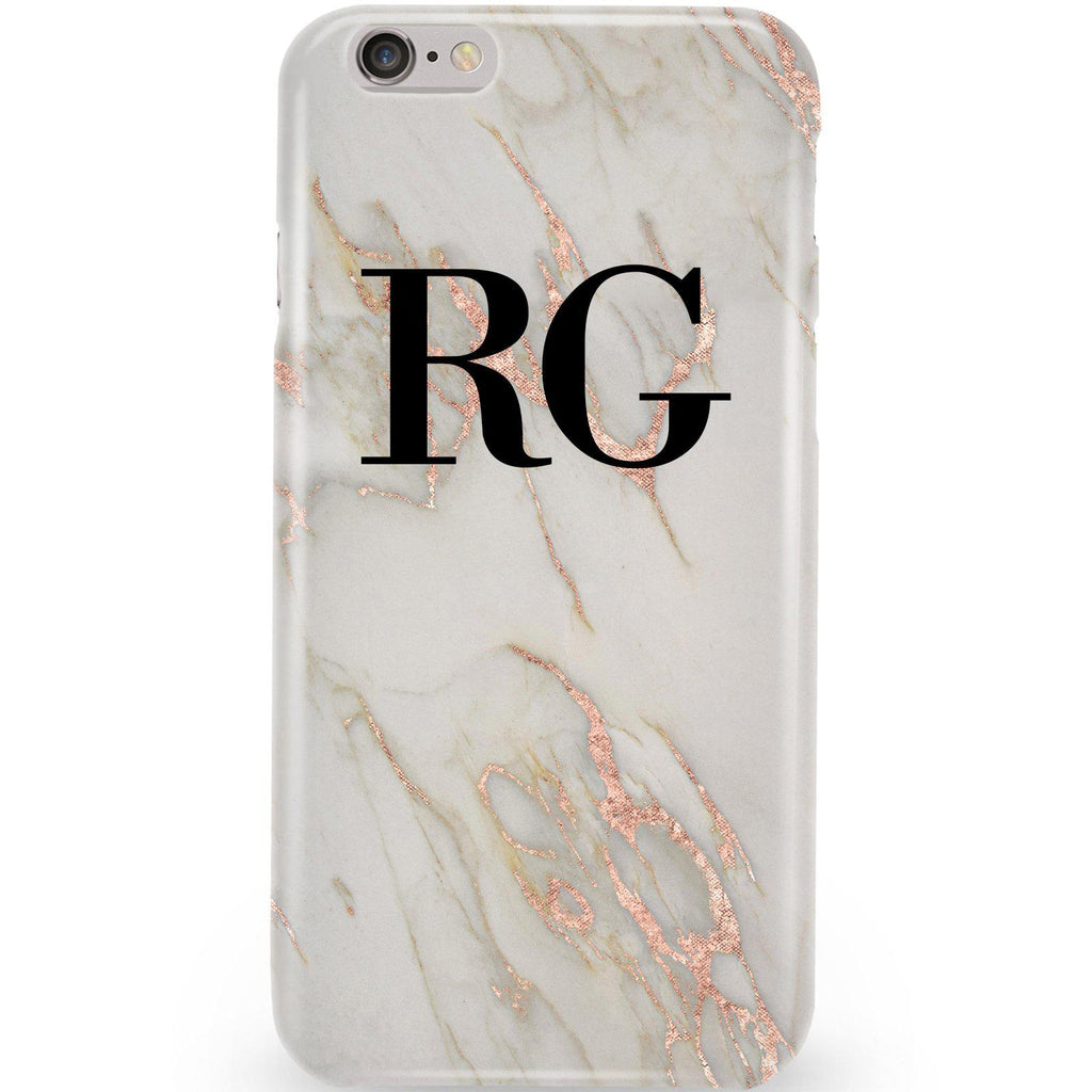 new styles 0a455 53ce7 Personalised Rose Gold Marble Initials iPhone 6 Plus/6s Plus Case