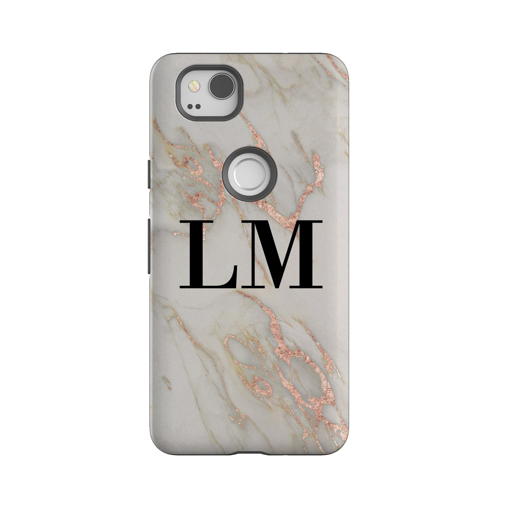 check out e2f94 02476 Personalised Rosegold Marble Google Pixel 2 Case