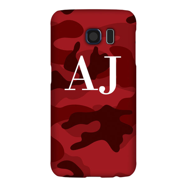 Personalised Red Camouflage Initials Samsung Galaxy S6 Edge Case