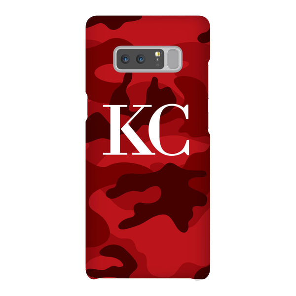 Personalised Red Camouflage Initials Samsung Galaxy Note 8 Case