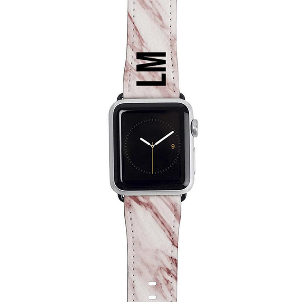 Personalised Rosa Marble Apple Watch Strap