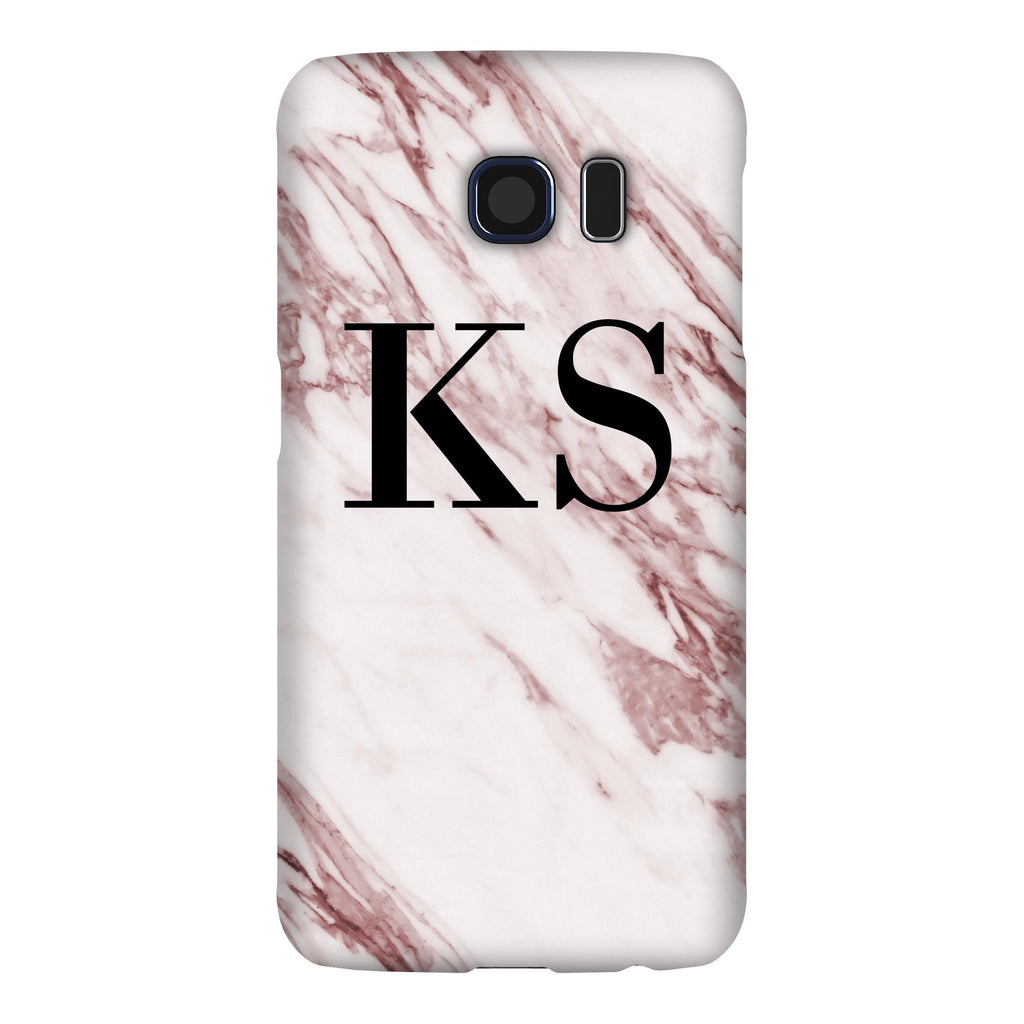 Personalised Rosa Marble Initials Samsung Galaxy S6 Case