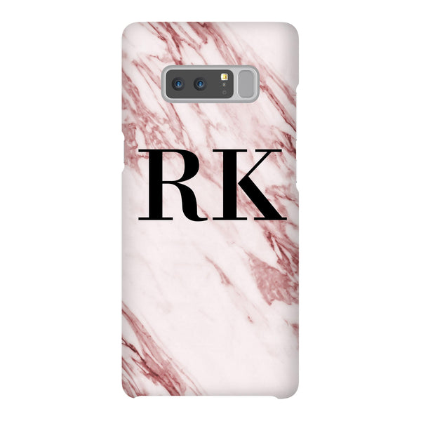 Personalised Rosa Marble Initials Samsung Galaxy Note 8 Case