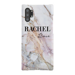 Personalised White Galaxy Marble Name Samsung Galaxy Note 10+ Case