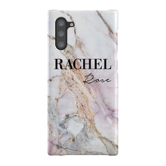 Personalised White Galaxy Marble Name Samsung Galaxy Note 10 Case