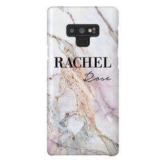 Personalised White Galaxy Marble Name Samsung Galaxy Note 9 Case