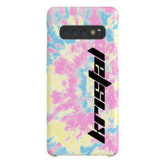 Personalised Multicolor Tie Dye Name Samsung Galaxy S10 Plus Case